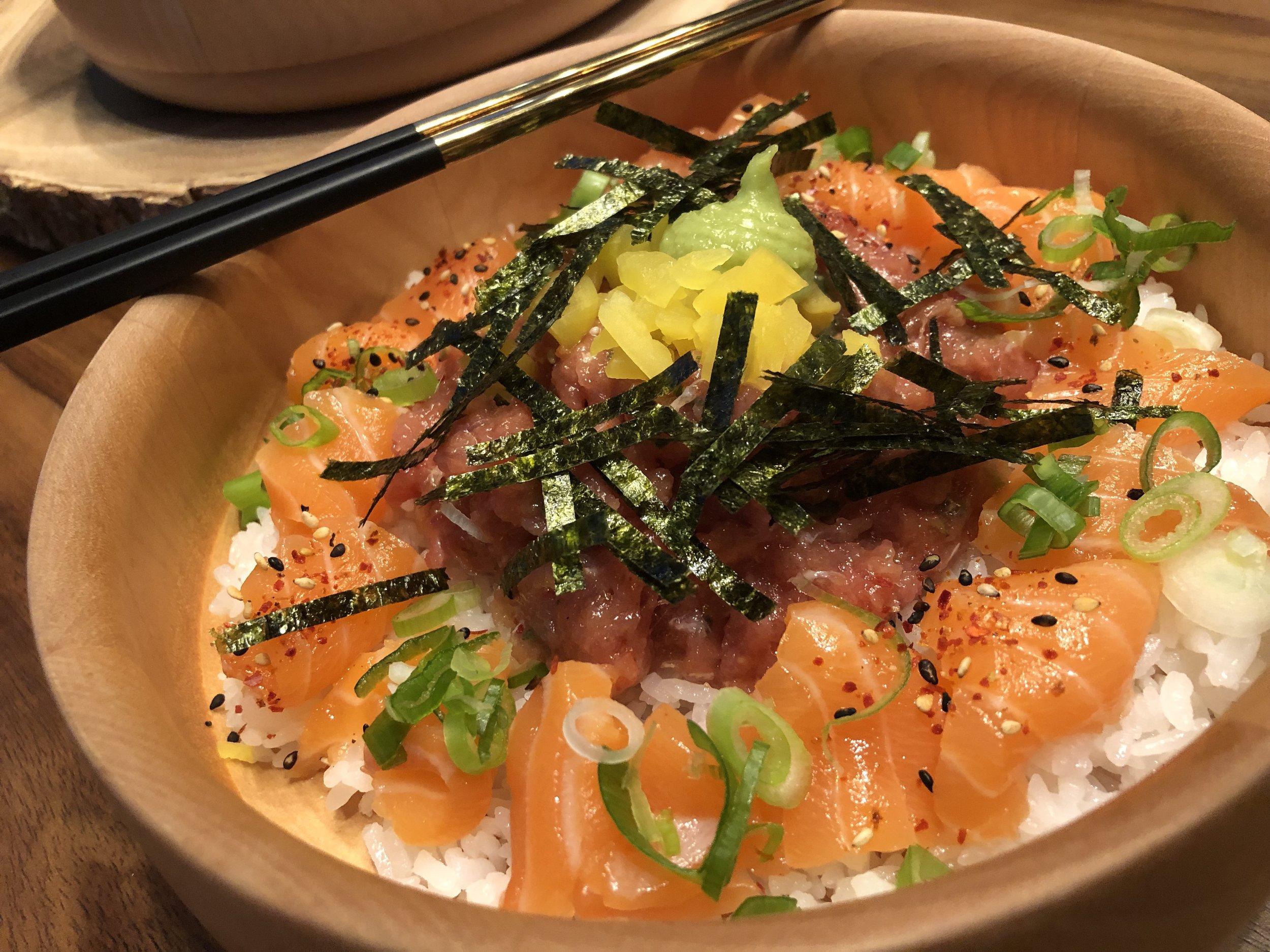 Salmon and Negi Toro Bowl