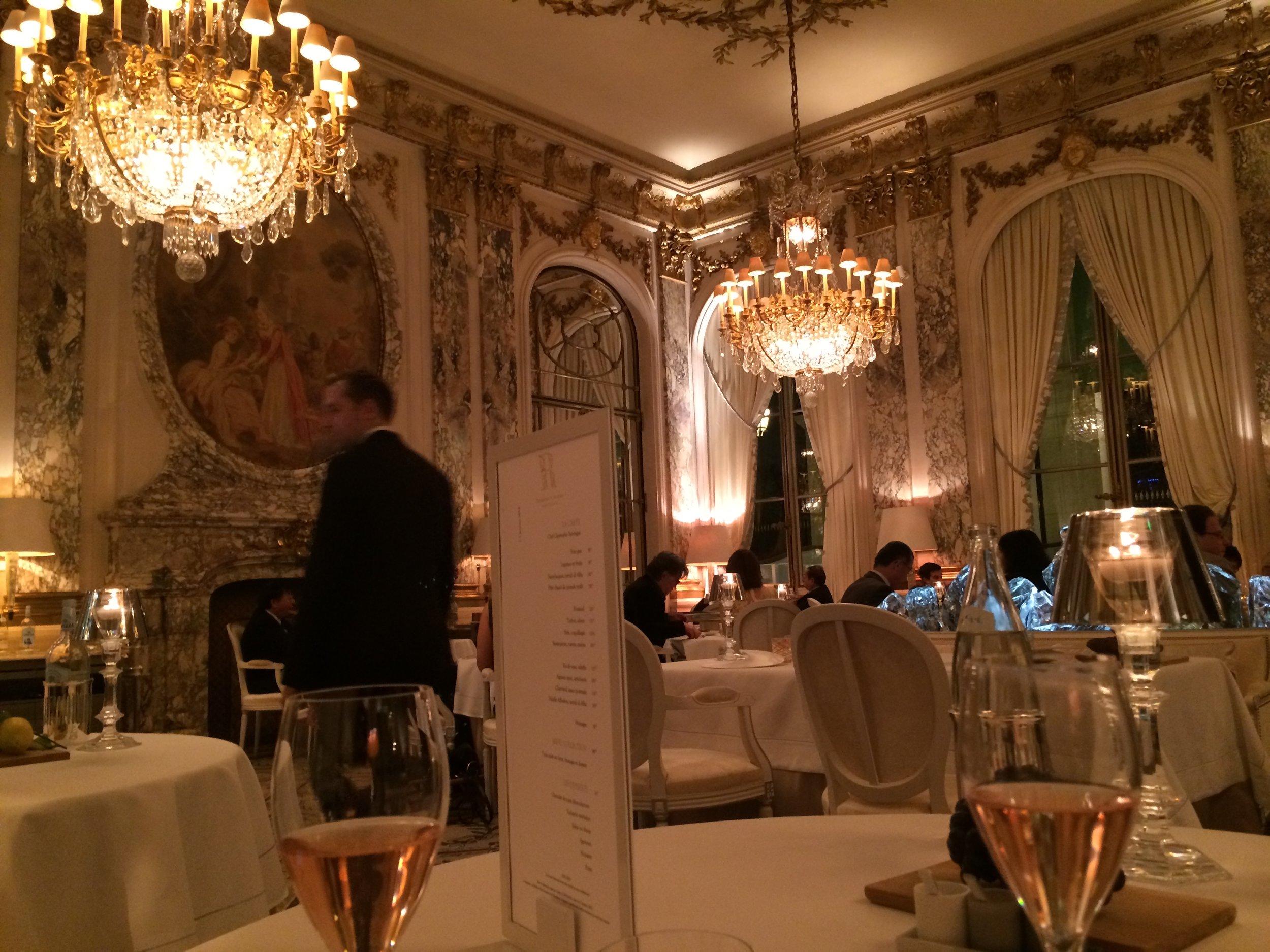 Le Meurice Dinner, December 2013