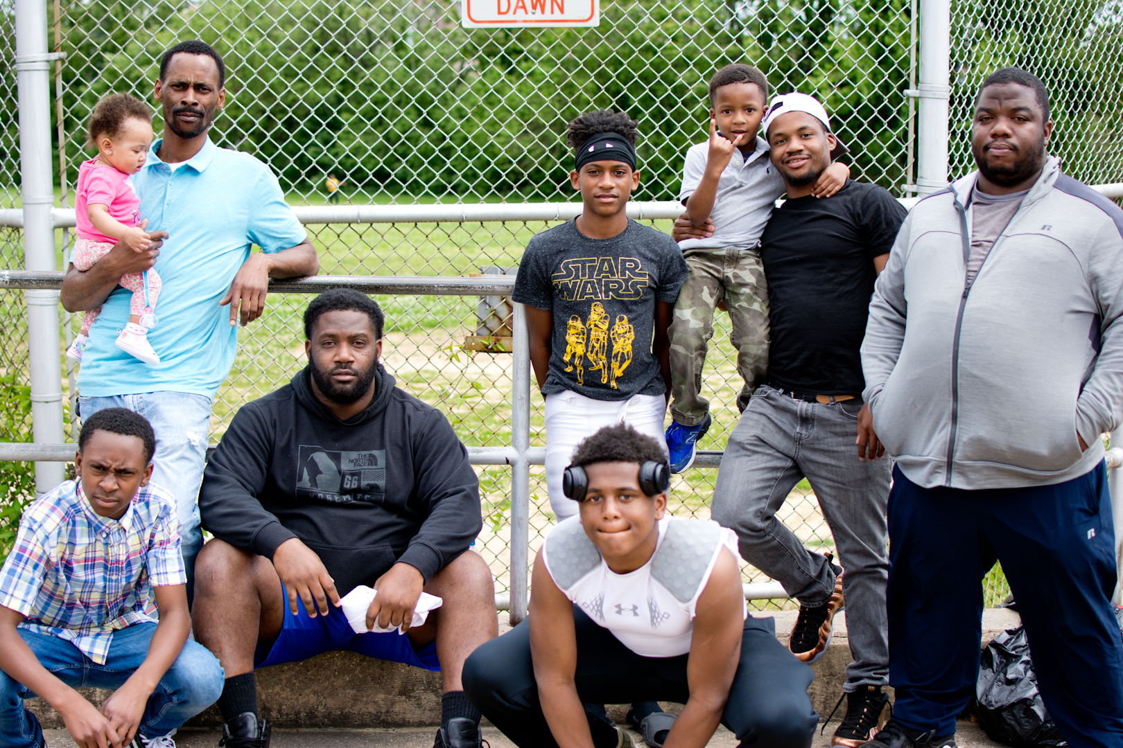 """""""We pretty much coach for old town gators, which is a youth football league established in 1978 in East Baltimore. We call this the swamp. Our season starts on August 1st but it's the spring season now."""""""