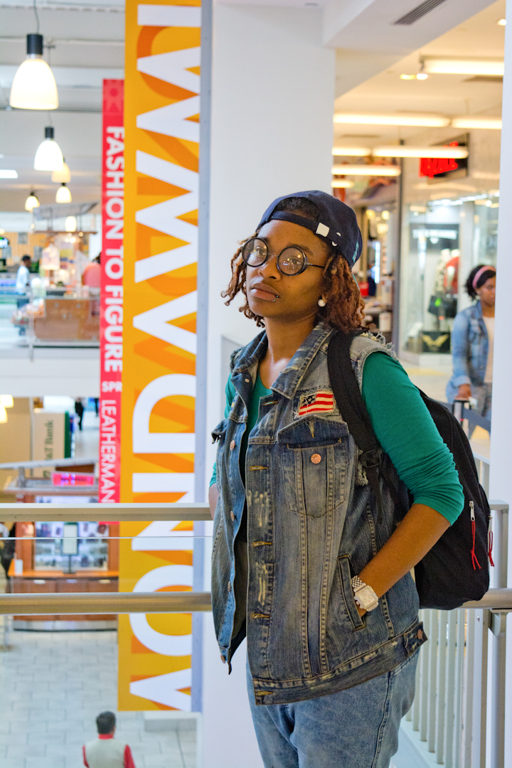 """Basically my day here I come here when I'm looking for something quick. Mondawmin has a big variety of everything. I'm comfortable and I don't have to worry that someone's gonna follow me or worry that I'm gonna steal something. Whatever I'm looking for I can find here and it's comfortable."""