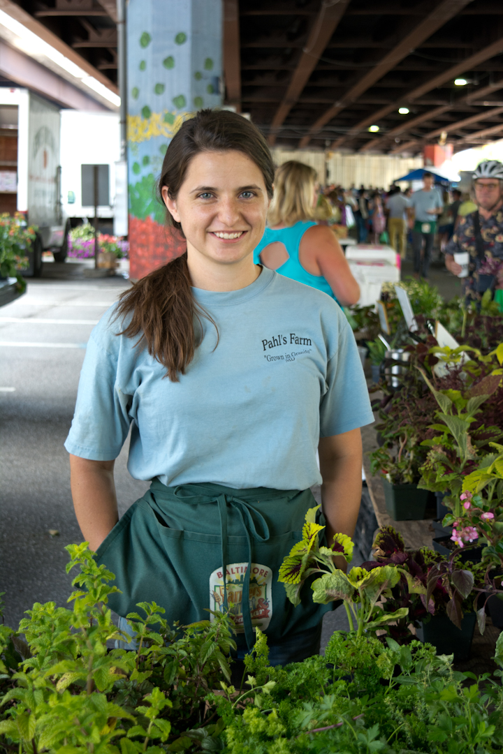 """I met this family when I was in high school and they hire me on the weekends and I make extra money and I get to tell people about plants and herbs. I love coming down here on Sundays because I get to meet a lot of people and it's lively."""