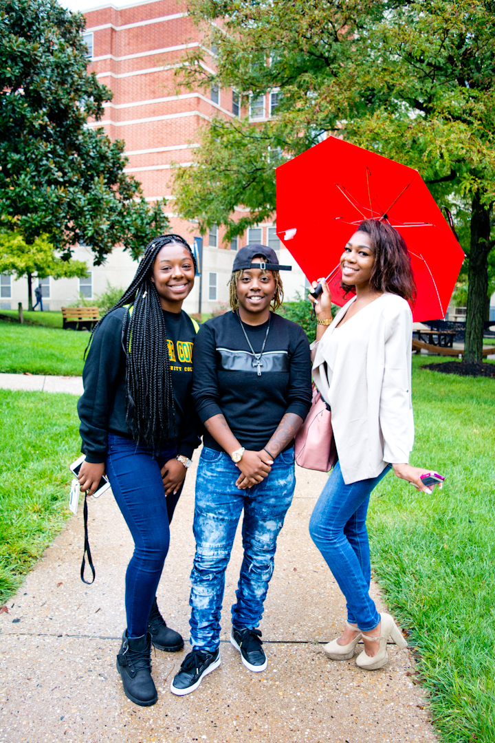 """""""Find the beauty in everything. It doesn't matter what it is. It could be the dirt, it could be the ugliest person, find the beauty.  I love tattoos and music.  I need to go to the bathroom.""""  Neighborhood: Coppin State University"""