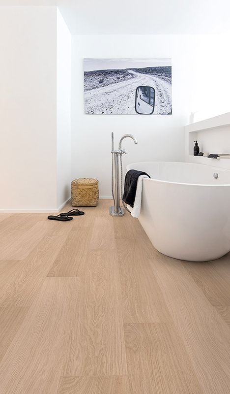 Quick-Step's Impressive laminate flooring in White Varnished Oak