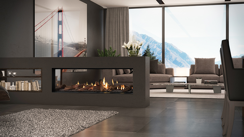 Available from April, the DS1400 from Escea, will take away everything you don't need for a gas fire that is truly frameless.