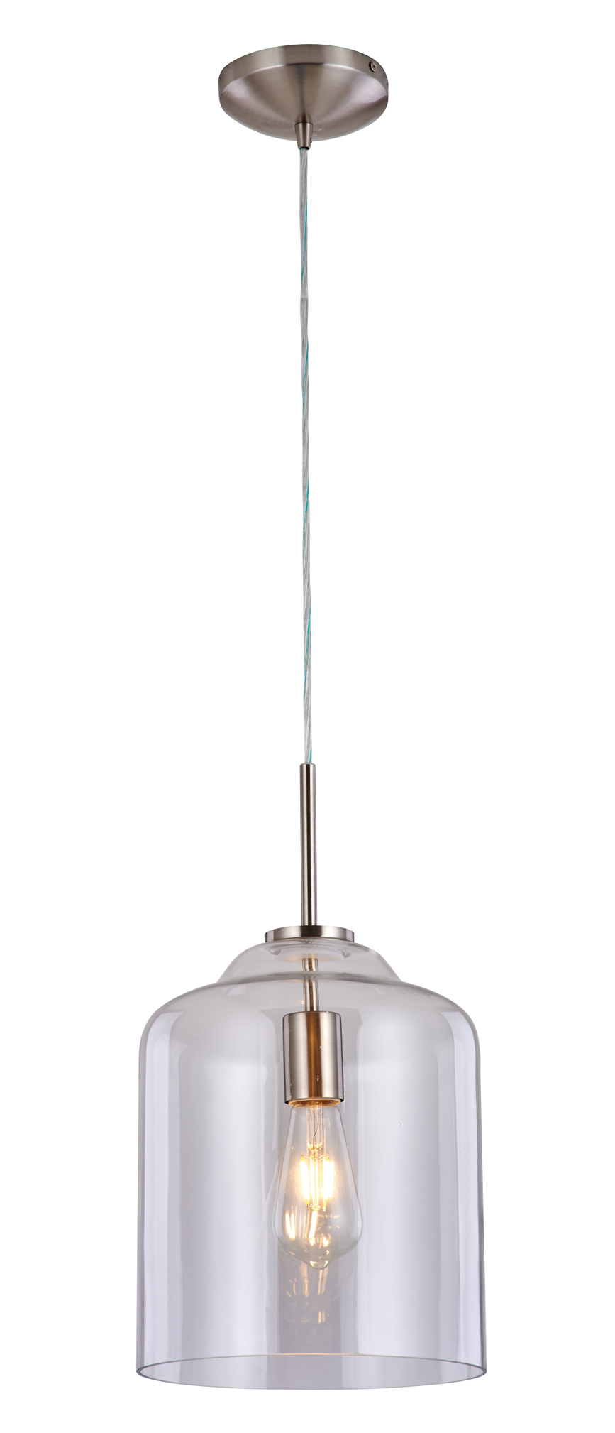 Enelle:  An elegant and sleek glass multi-use pendant.