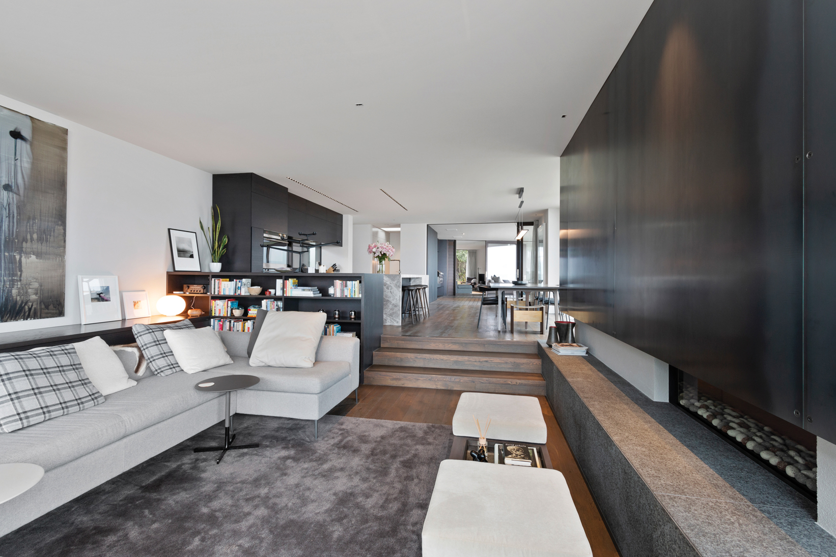 Interior:  A restful colour palette of greys and browns creates an elegant cohesive interior.