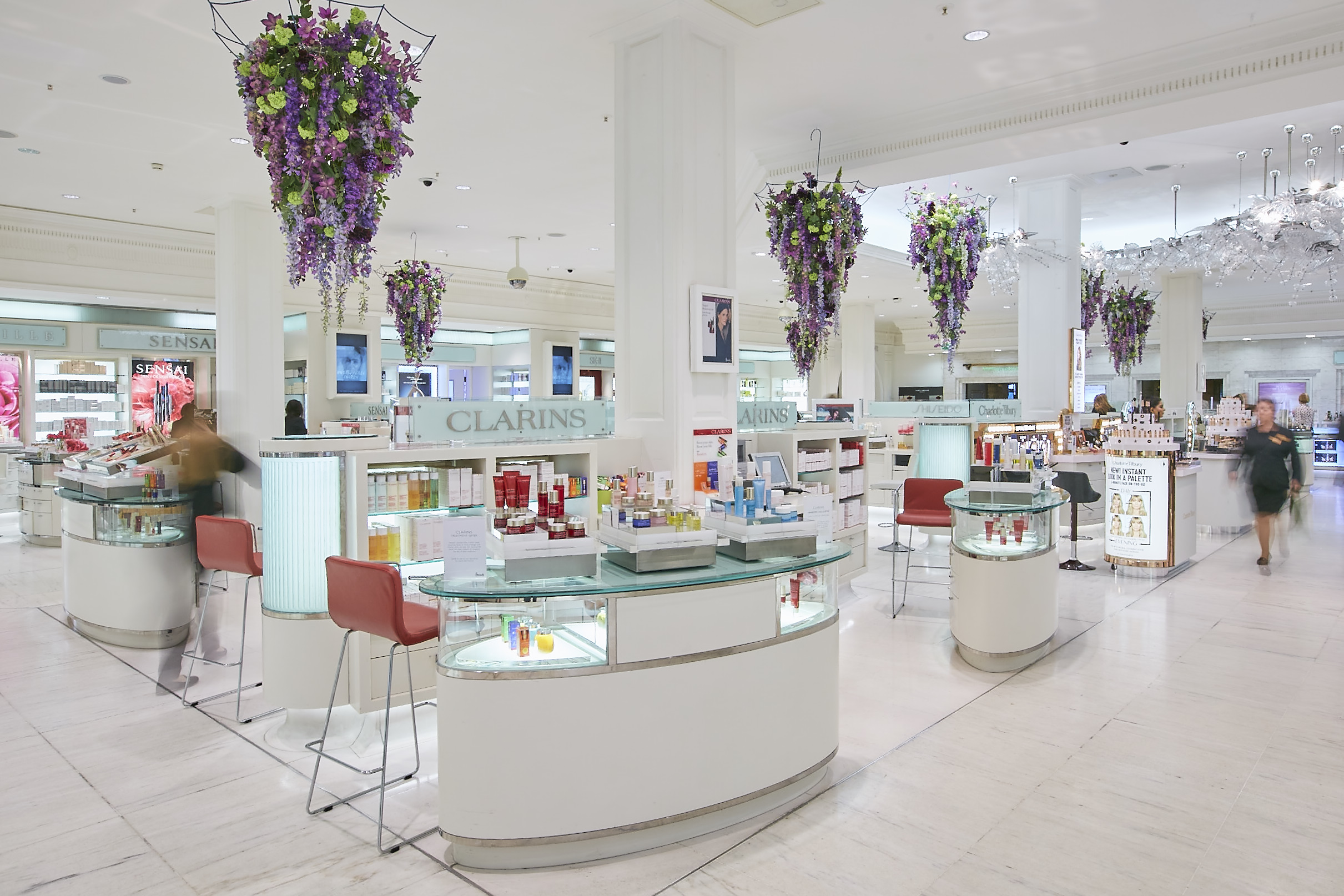 In Water Flowers for Harrods Whatever the Weather campaign