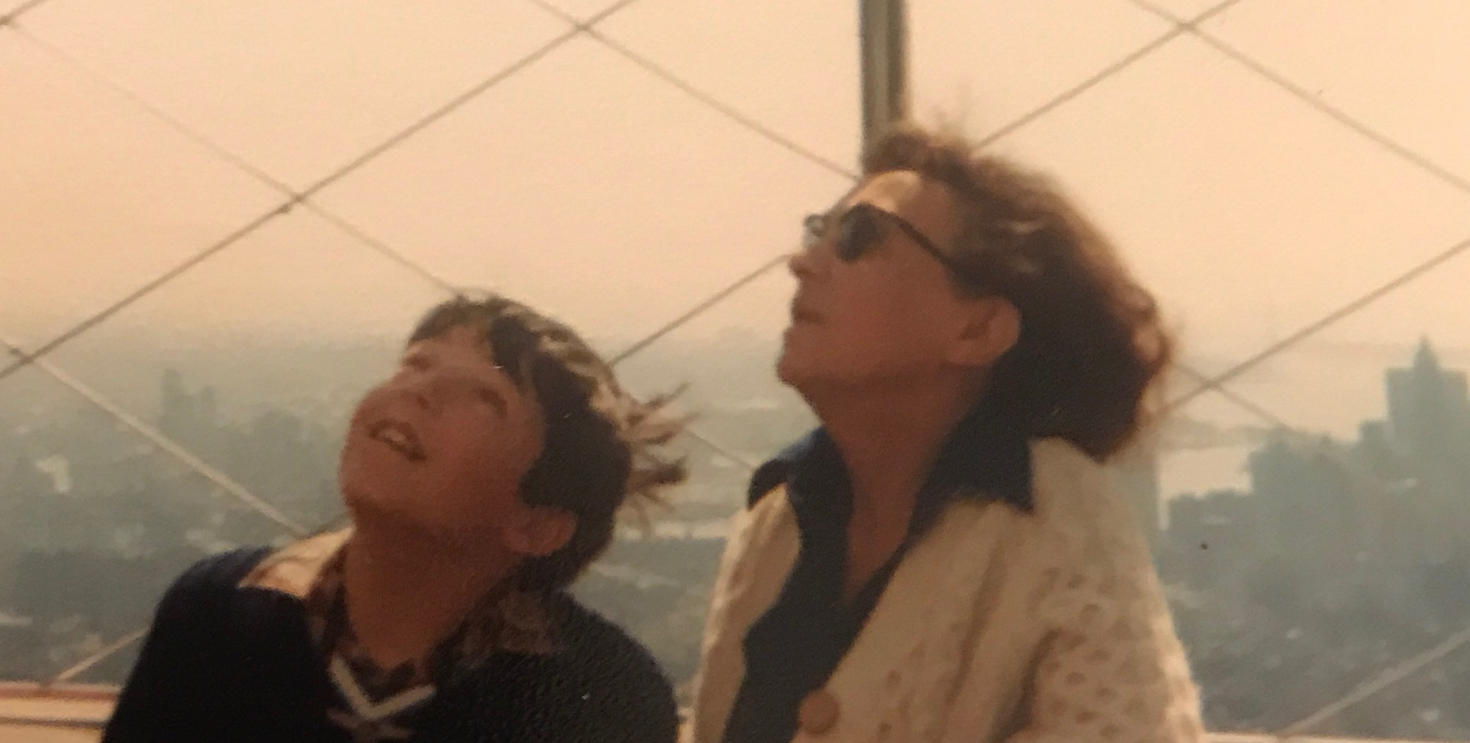 Gran and me at the top of an American icon during our American adventure.