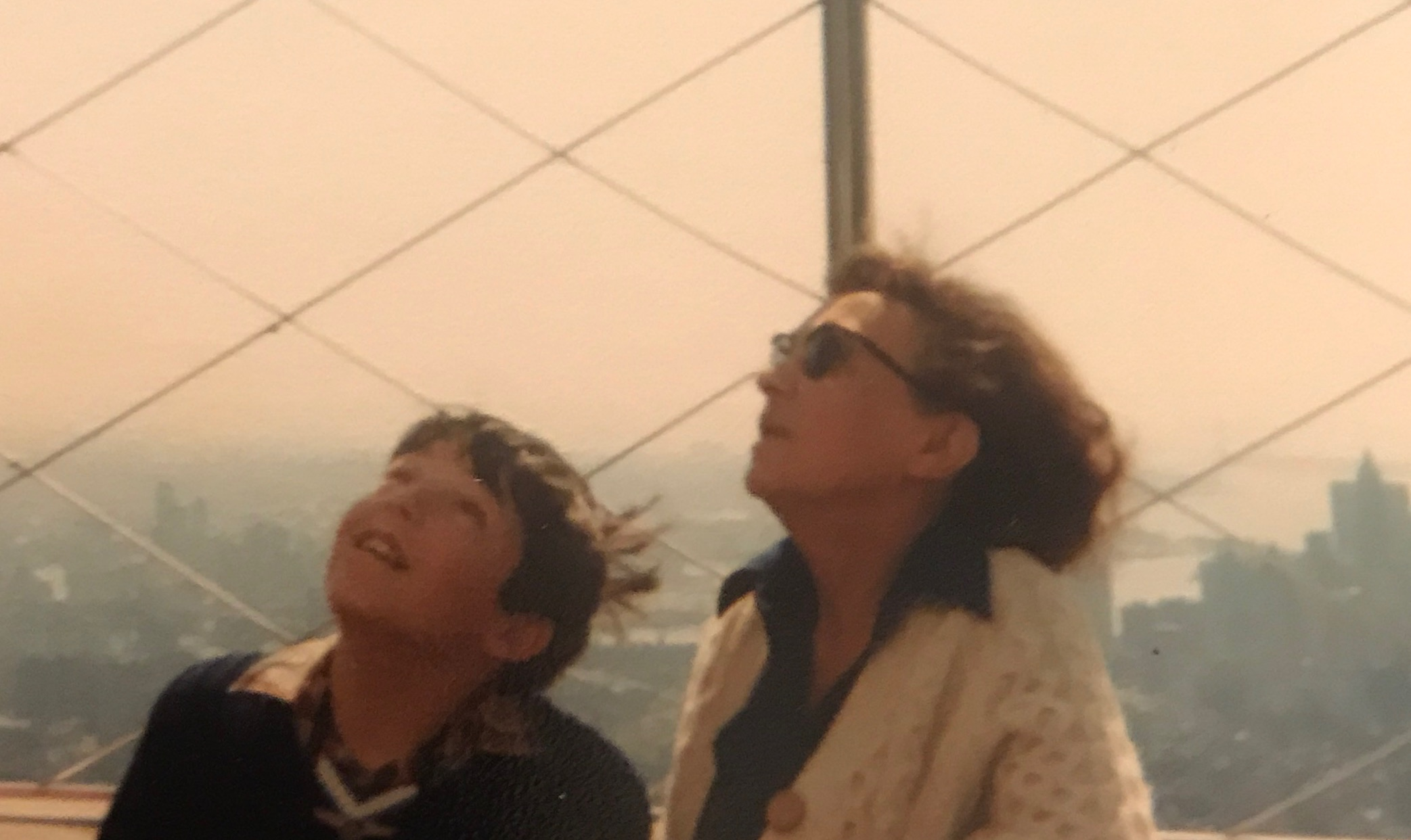 Gran and me, on the Observation Deck of the Empire State Building.