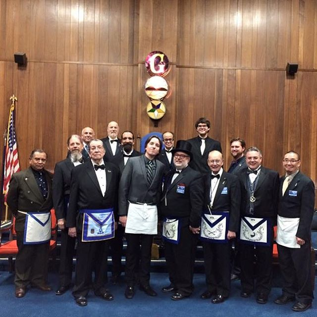 Brother Bujak's raising to the sublime degree of Master Mason