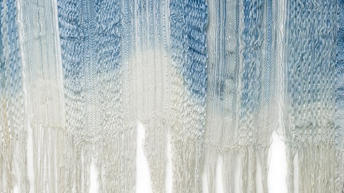 Indigo Falls, Woven Wall Hanging by Jo Aylwin