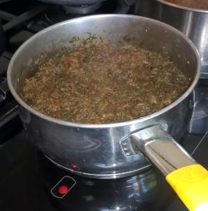 Making a dye vat