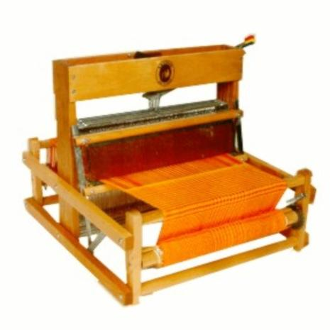 Harris 4 shaft table loom - this is the type of loom used for these workshops