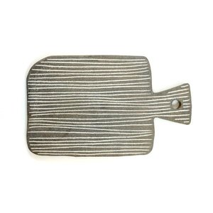 Sharon Alpren - Striped Stoneware Serving Board
