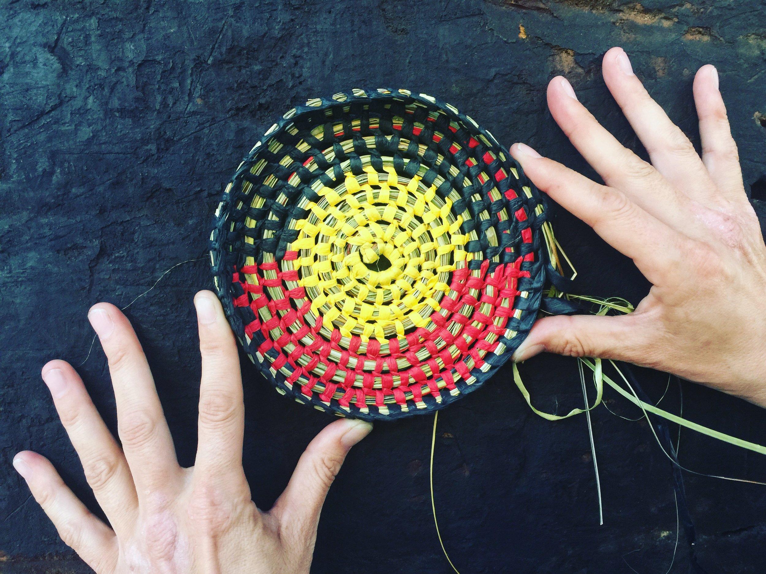 Donna Blackall, Weaving at Black Arts Market, Carriageworks