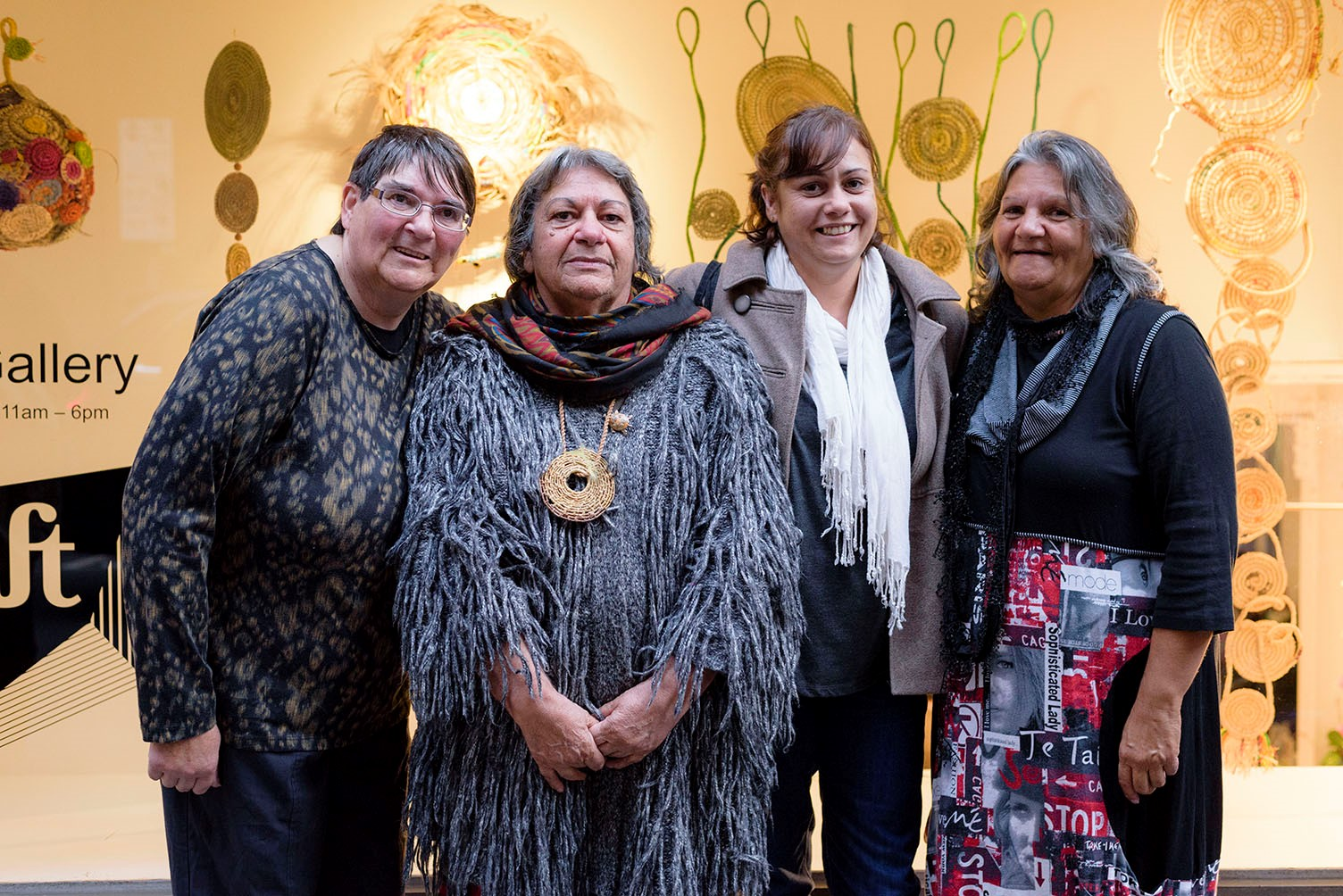 Members of the Victorian Aboriginal Weaving Collective