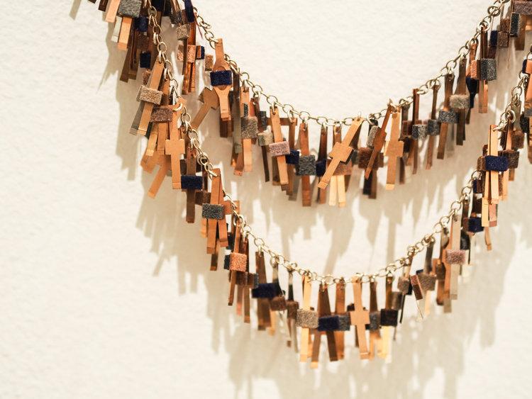 Run LMC Double Necklace ( detail), 2018, Laila Marie Costa. Photo by Eliza Tiernan