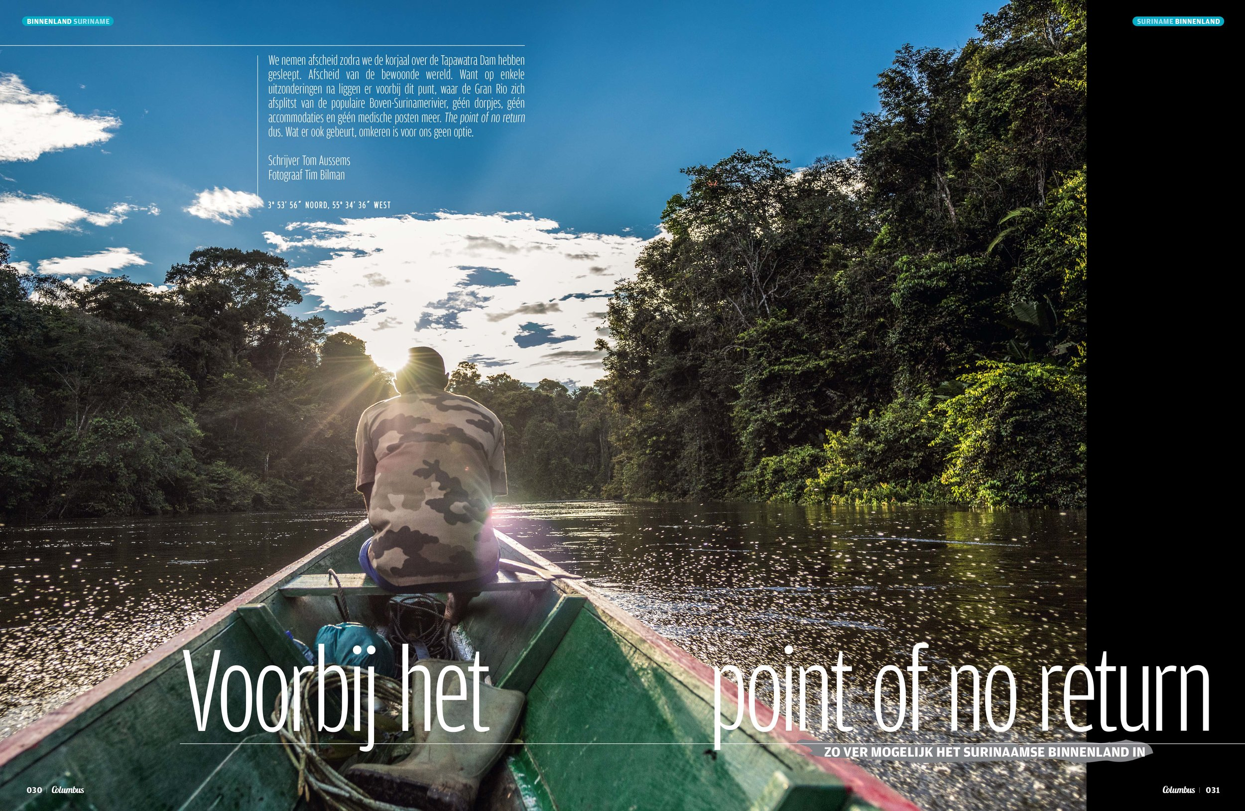 Surinam - For the dutch travel magazine Columbus Travel I spend some time deep in the Surinam Amazon. Together with journalist Tom Aussems I made a report about this amazing remote destination.