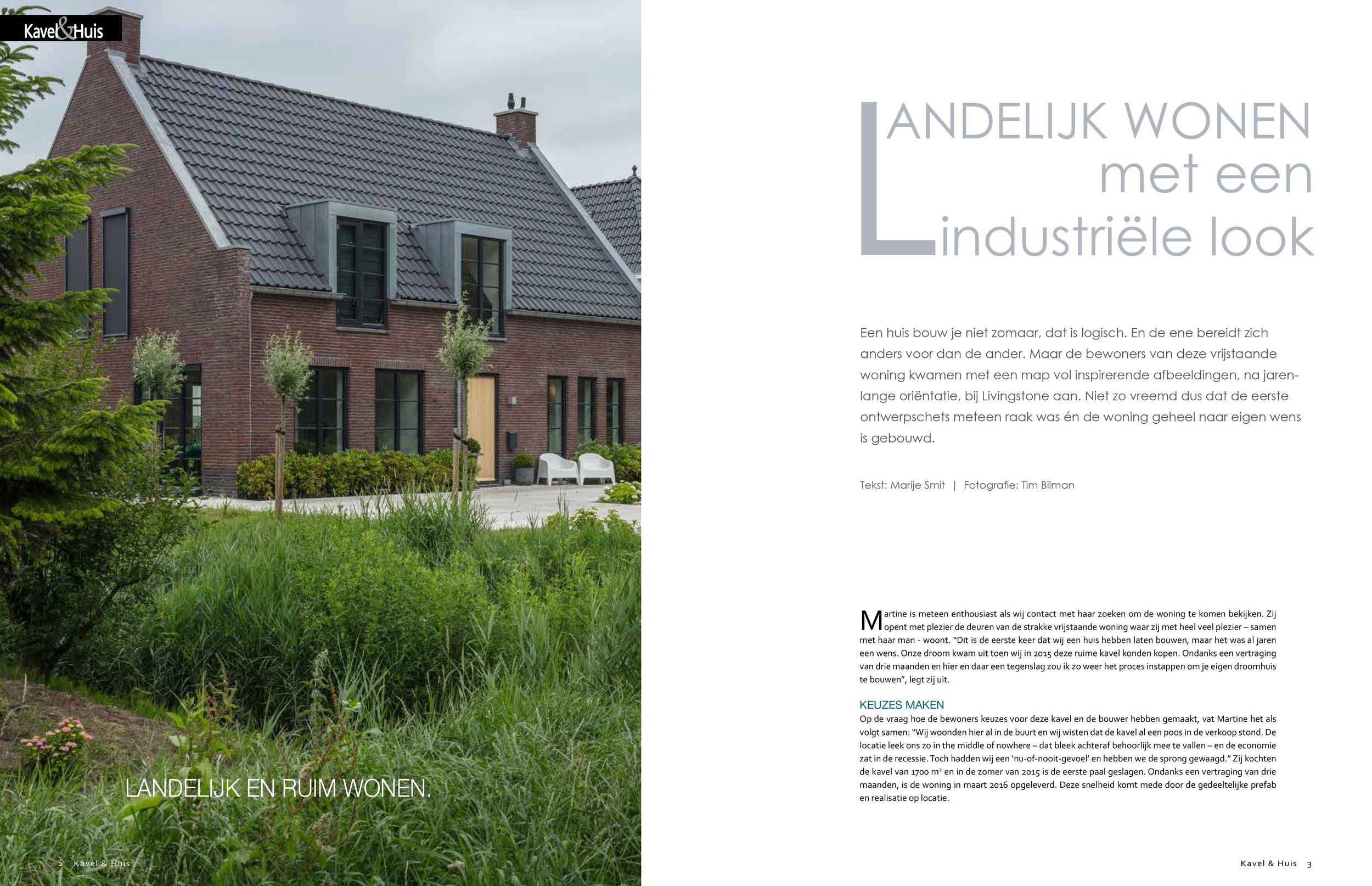 - For the dutch magazine Kavel & Huis I made a report about this Livingstone house. It was published Summer '18.