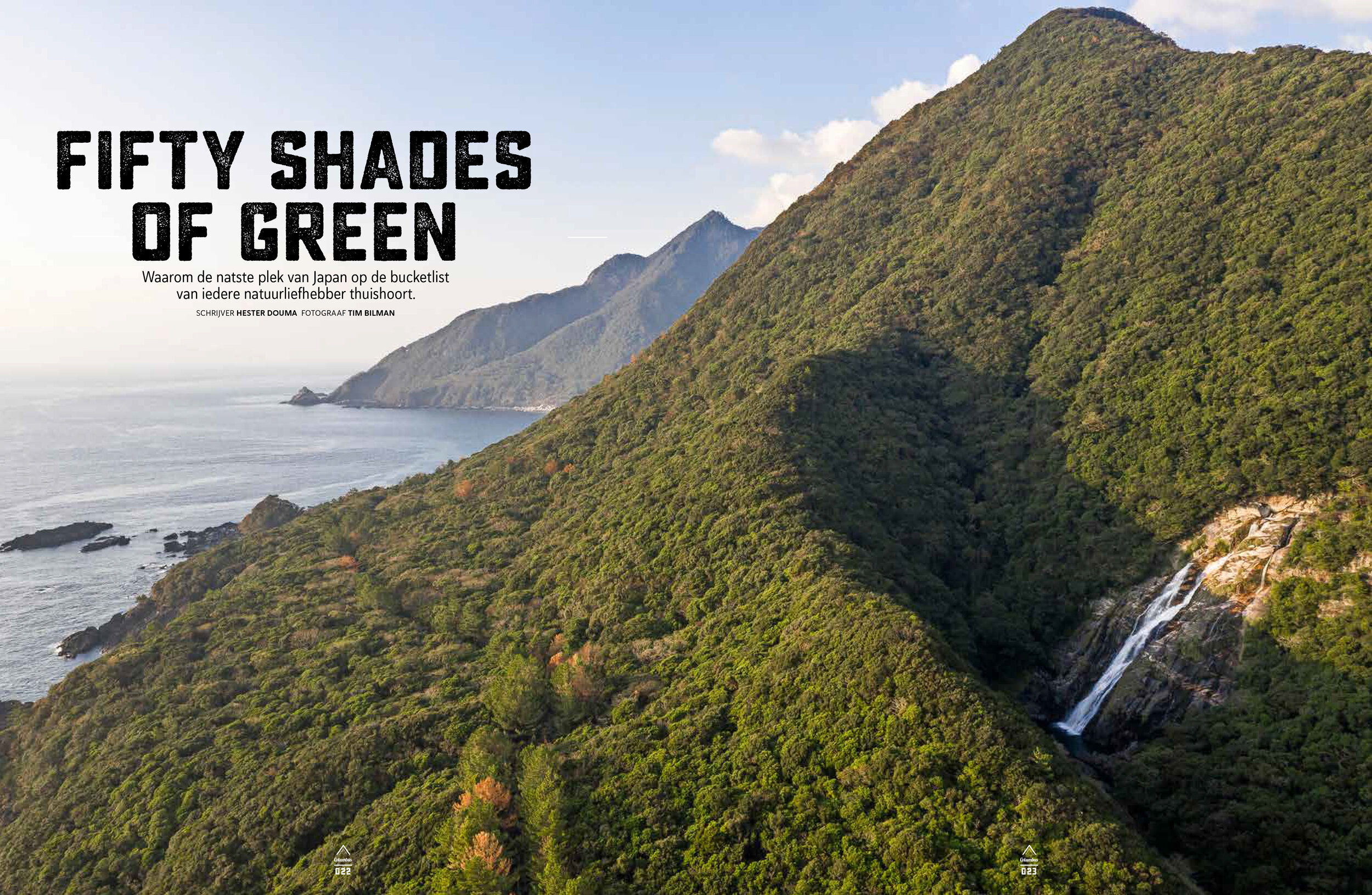 Yakushima - October '18 Hester and I traveled to Japan's wettest island. Yakushima is known for her thousand years old cedar trees and many shades of green. The article was published in September '19 in Columbus travel edition 84.