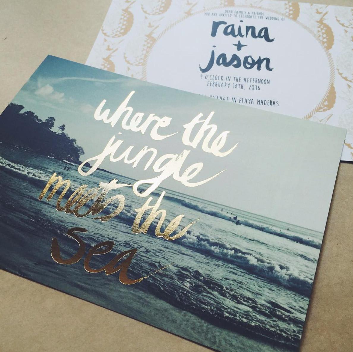 JUNGLE + SEA GOLD FOIL INVITATION