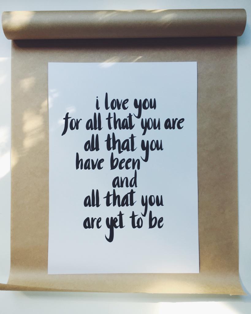 'I LOVE YOU' CUSTOM PRINT