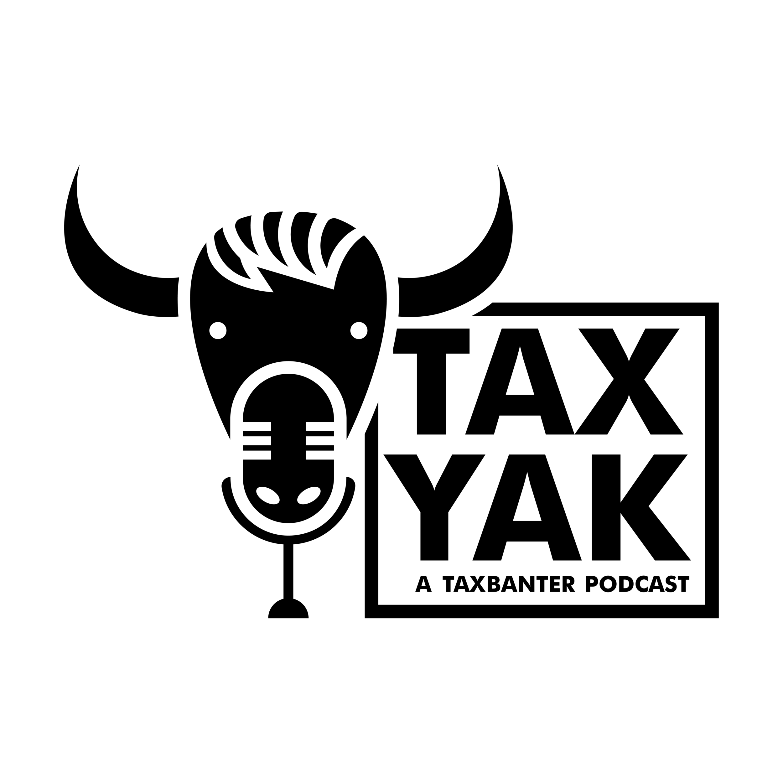 The name provided an excellent opportunity to blend its two elements together providing the podcast with a cheeky vibe and showcasing their fun loving attitude towards their show'smain topic. - Yak and microphone combination.