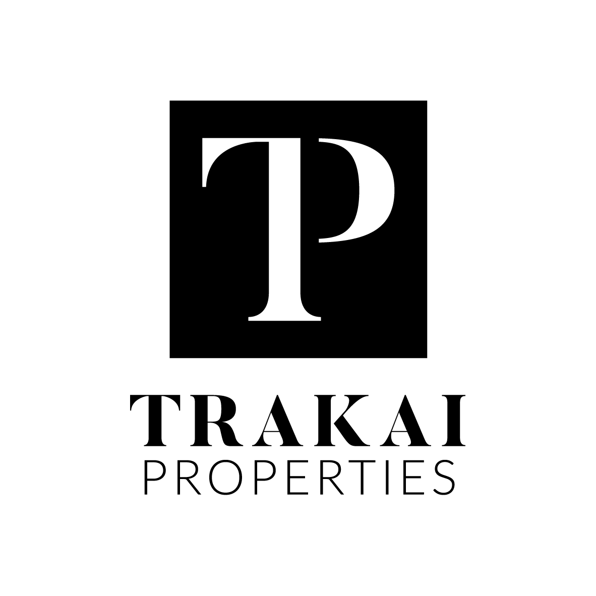 Logo design for Trakai Properties. A luxury and quality feel was a main focus point for the client as well as having a contemporary base for launching their brand. -