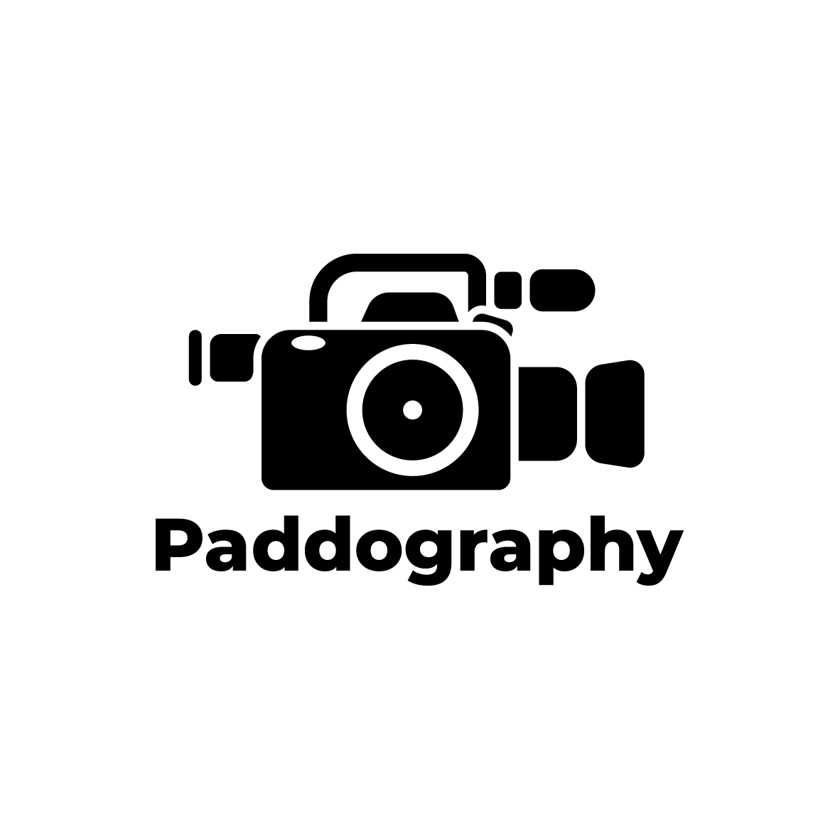 Logo design for Gold Coast photographer Paddography. Paddo's a photographer and filmer, so the idea was to blend the two into a simple icon. - The VX1000, a popular video camera among skateboarders was also used as inspiration - evoking Paddo's roots.