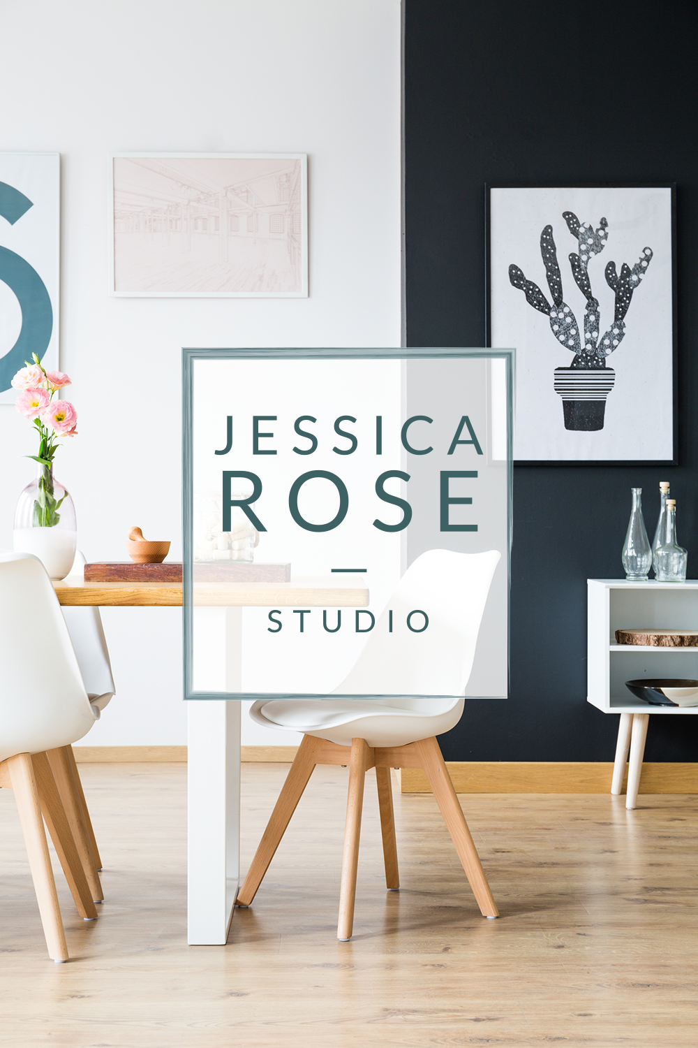 Logo & business card design for interior designer Jessica Rose based in San Diego. She creates unique and functional interiors where people can feel their absolute best - specializing in interior design for startups and small businesses. -