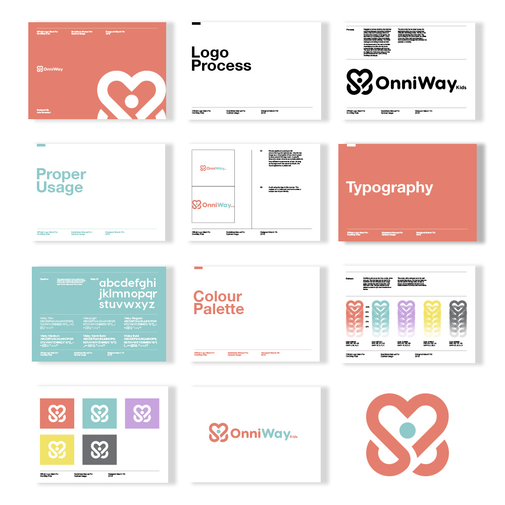 Onniway brand guide pages