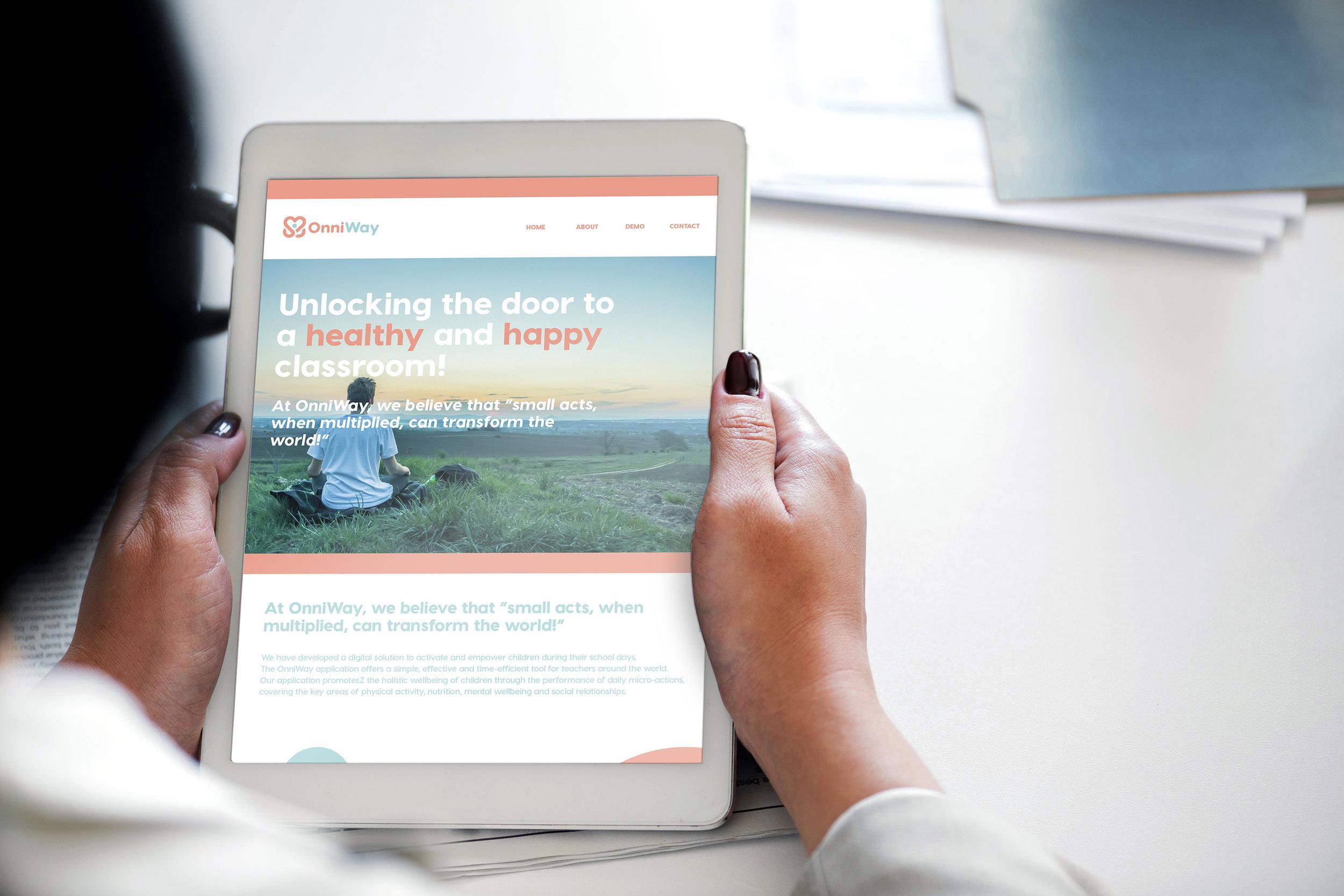 Onniway website on ipad