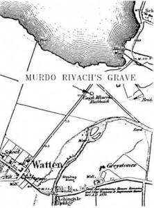 19th century Ordinance Survey maps locate Murdo Rivach's Grave.
