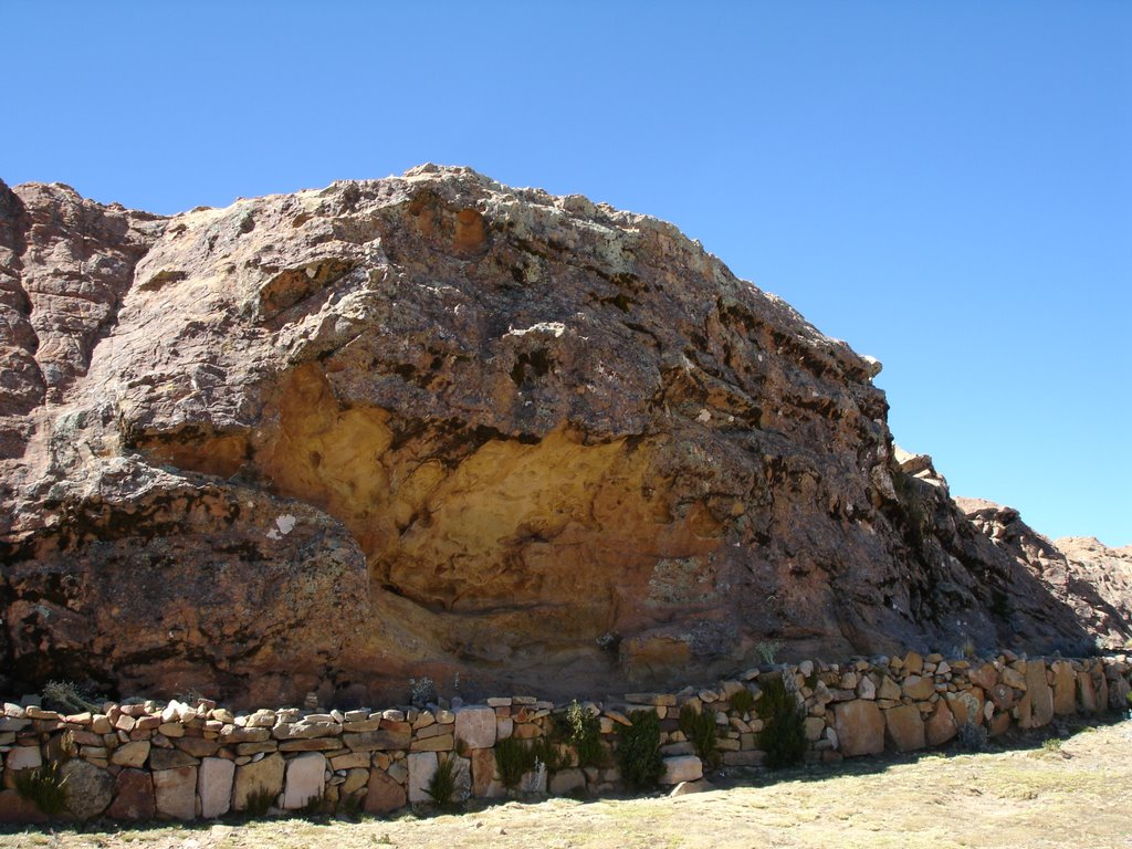 Titi Qala, on the Island of the Sun is one of the Inca's most sacred sited.