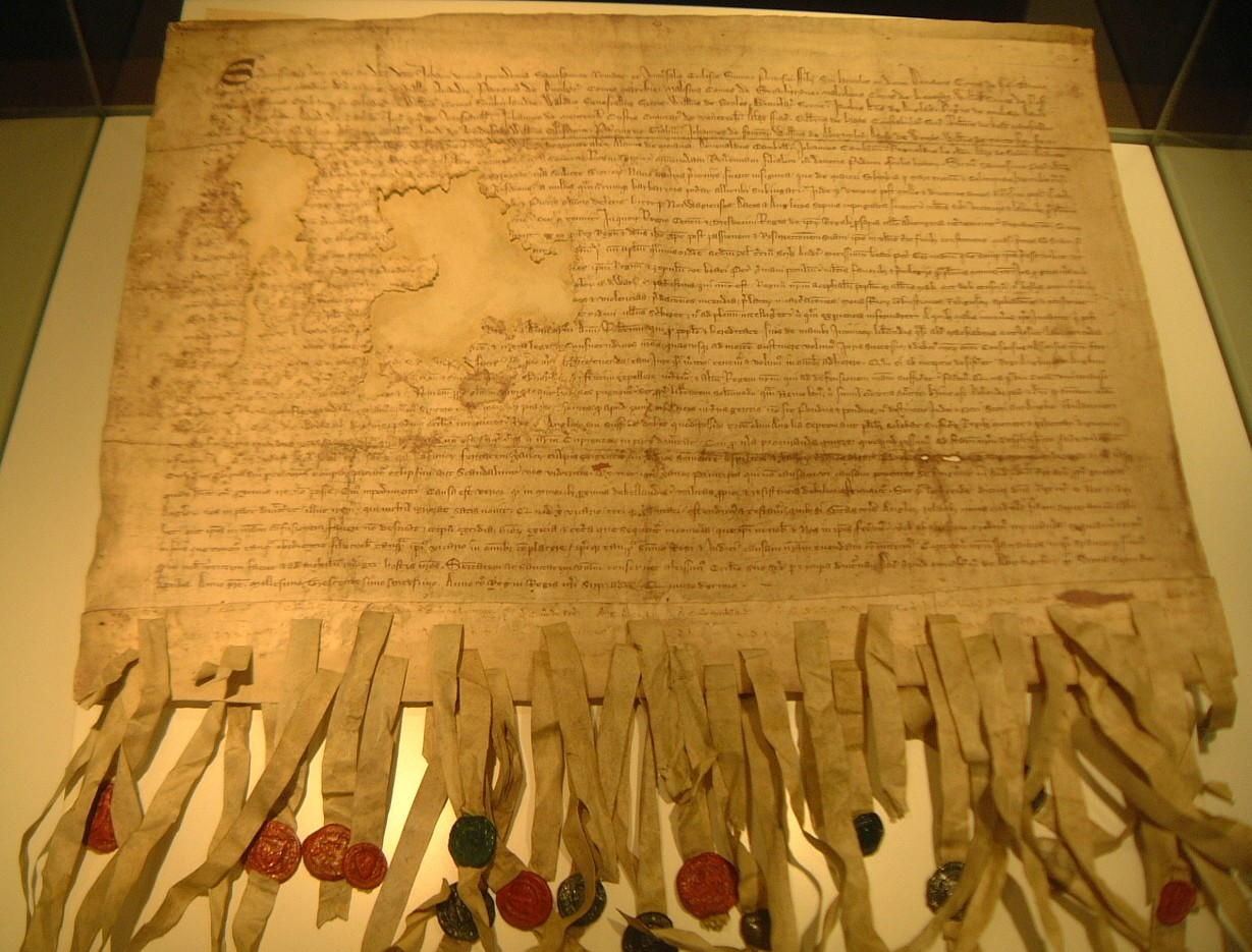 The Declaration of Arbroath (Scotland formally declares independence from England in 1320.)