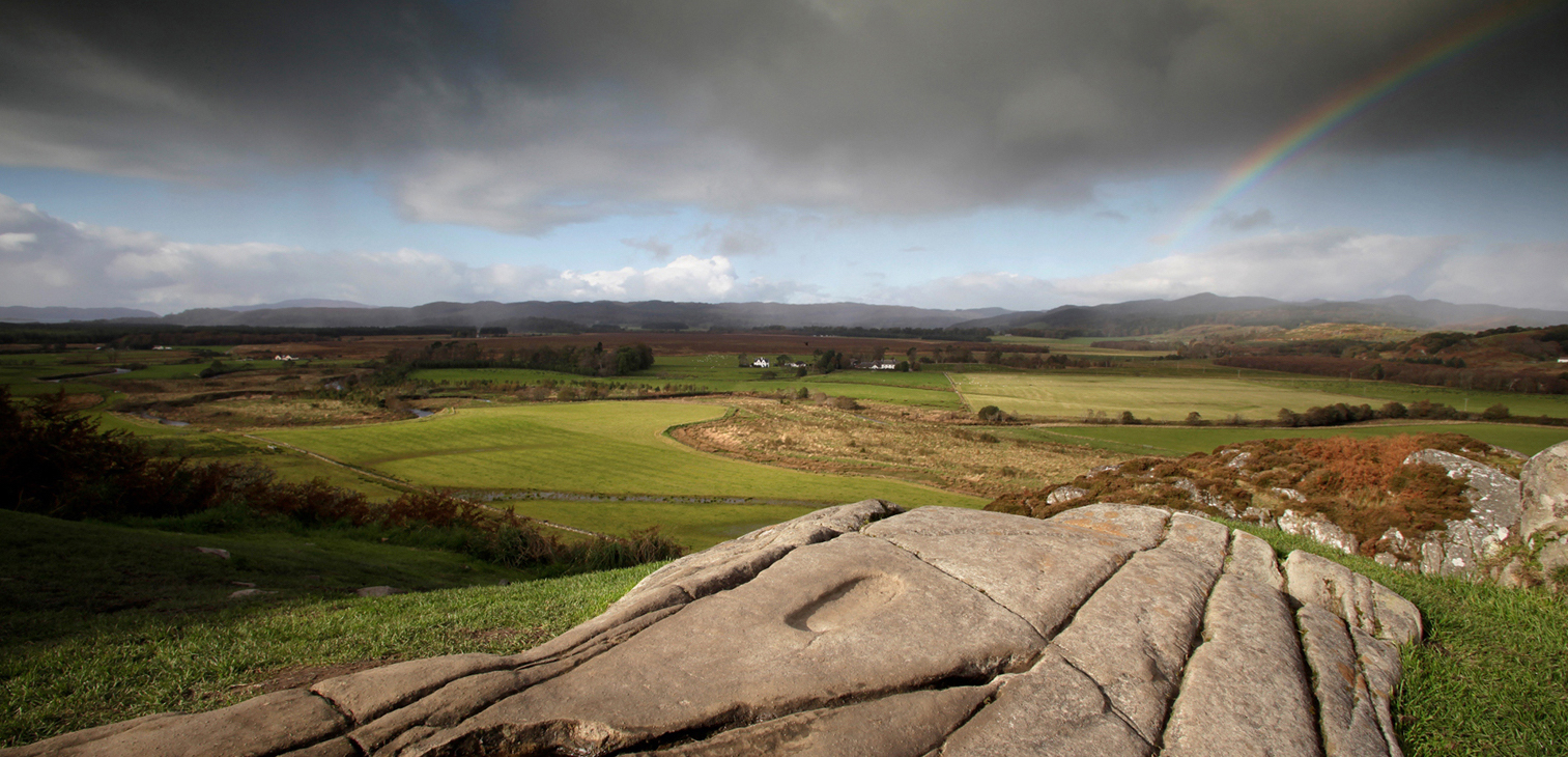 The Kings Footprint at Dunadd (the Place of the Kings) in Scotland's Kilmartin Glen.
