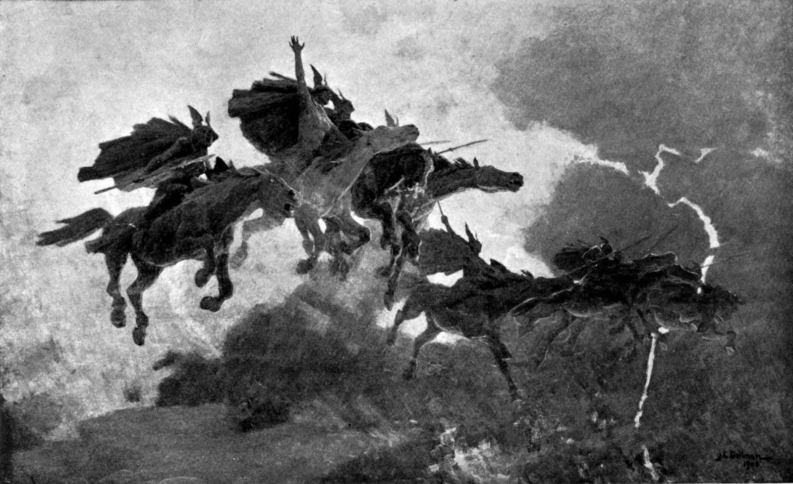 Ride of the valkyries. John Charles Dollman