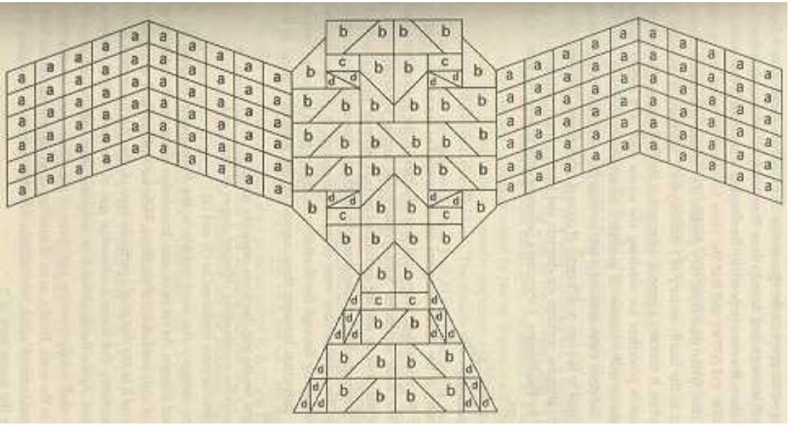 The first layer of a Vedic sacrificial altar is shaped like a falcon