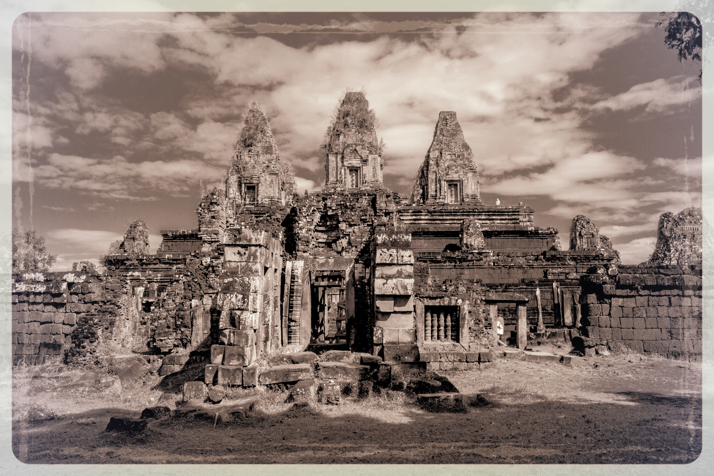 Prae Rup Temple, Angkor, is located just south of the East Baray, or eastern reservoir, and is featured in Part 2. ©ashleycowie.com