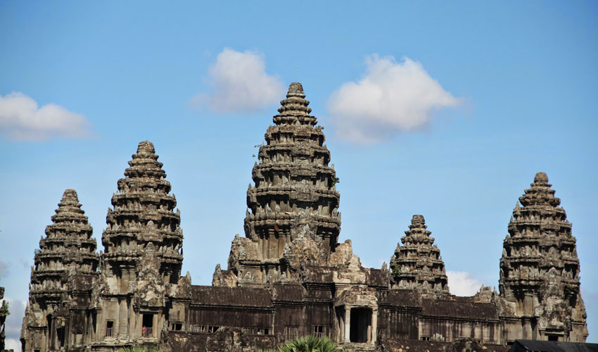 The central tower represents the legendary Mount Meru, the residence of the Hindu gods.