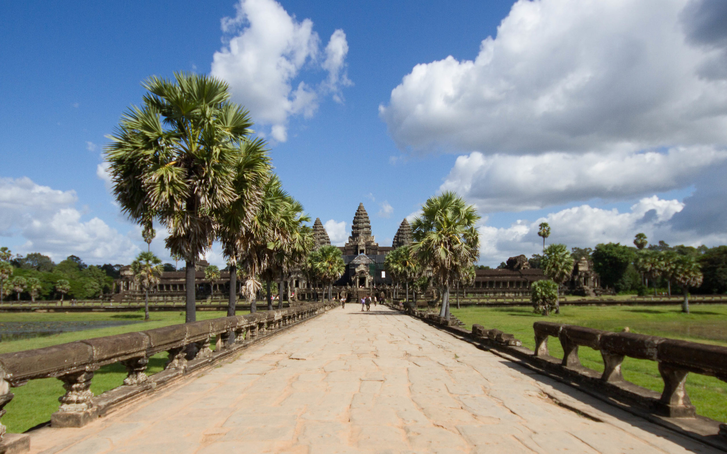 The west causeway leading to the temple at Angkor Wat is lined with serpents, central in Hindu creation myths.
