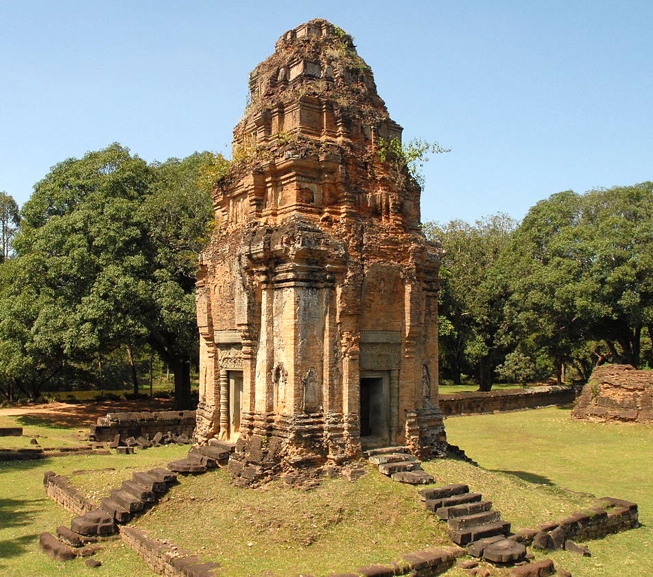 Bakong temple was marked the first of the Khmer state prime meridians.