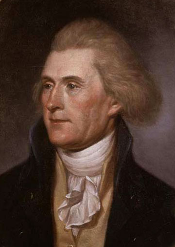 Thomas Jefferson in 1791 at 49 by  Charles Willson Peale  opposed St. Clair's motion to abolish slavery.