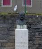 #12. Georges Colomb's bust is located beside Myon church.