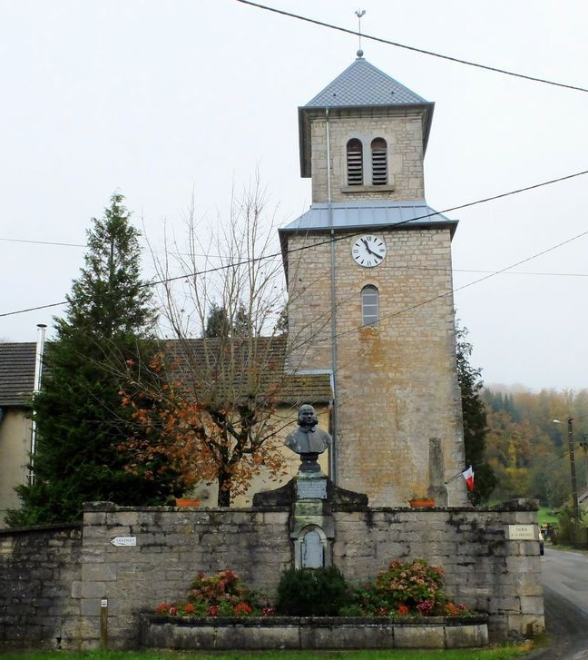 #11. Alphonse Delacroix's bust is located outside Alaise church.