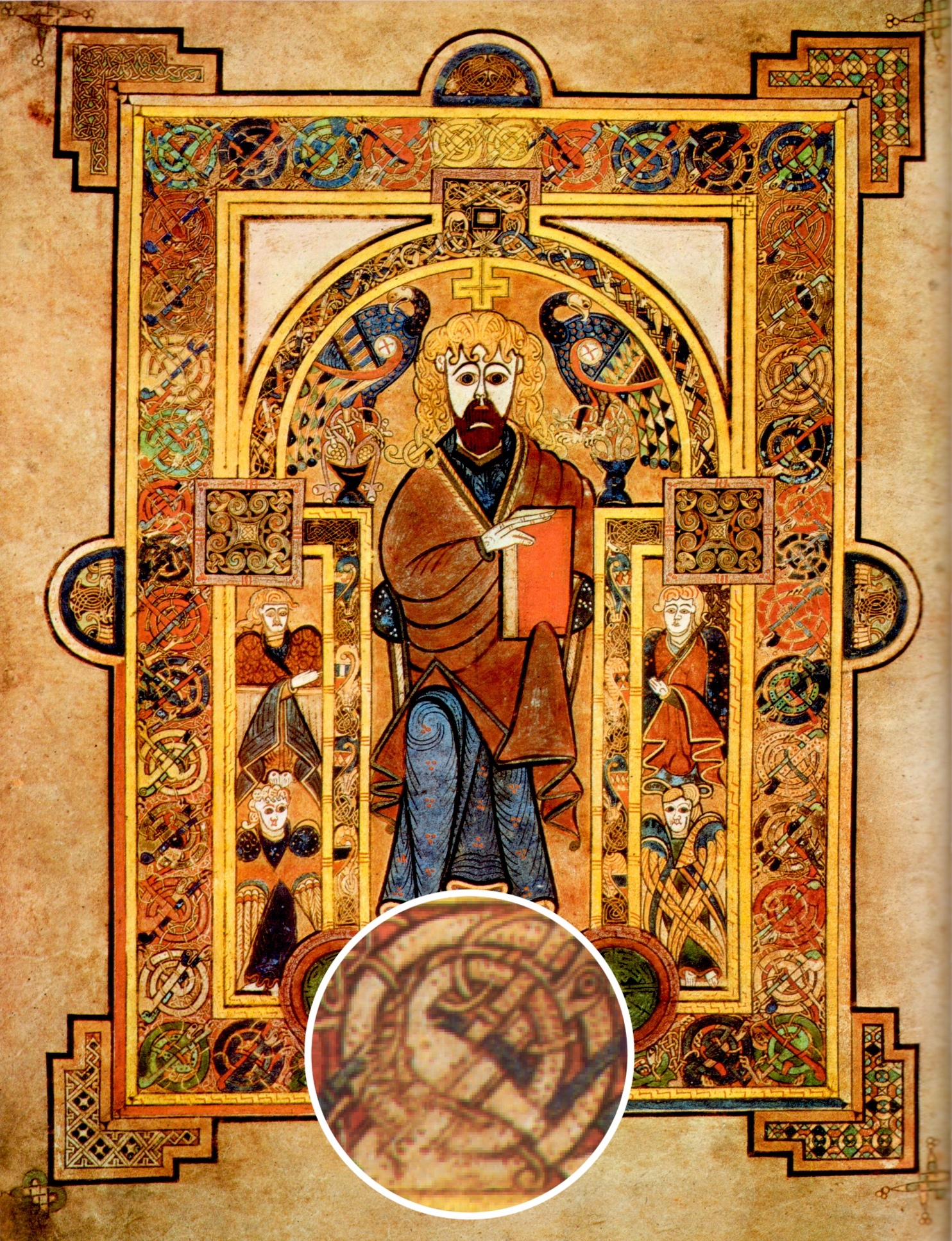 Abbey of Kells - Scanned from Treasures of Irish Art, 1500 BC to 1500 AD : From the Collections of the National Museum of Ireland, Royal Irish Academy, & Trinity College, Dublin, Metropolitan Museum of Art & Alfred A. Knopf, New York, 1977.  CC ASA 3.0