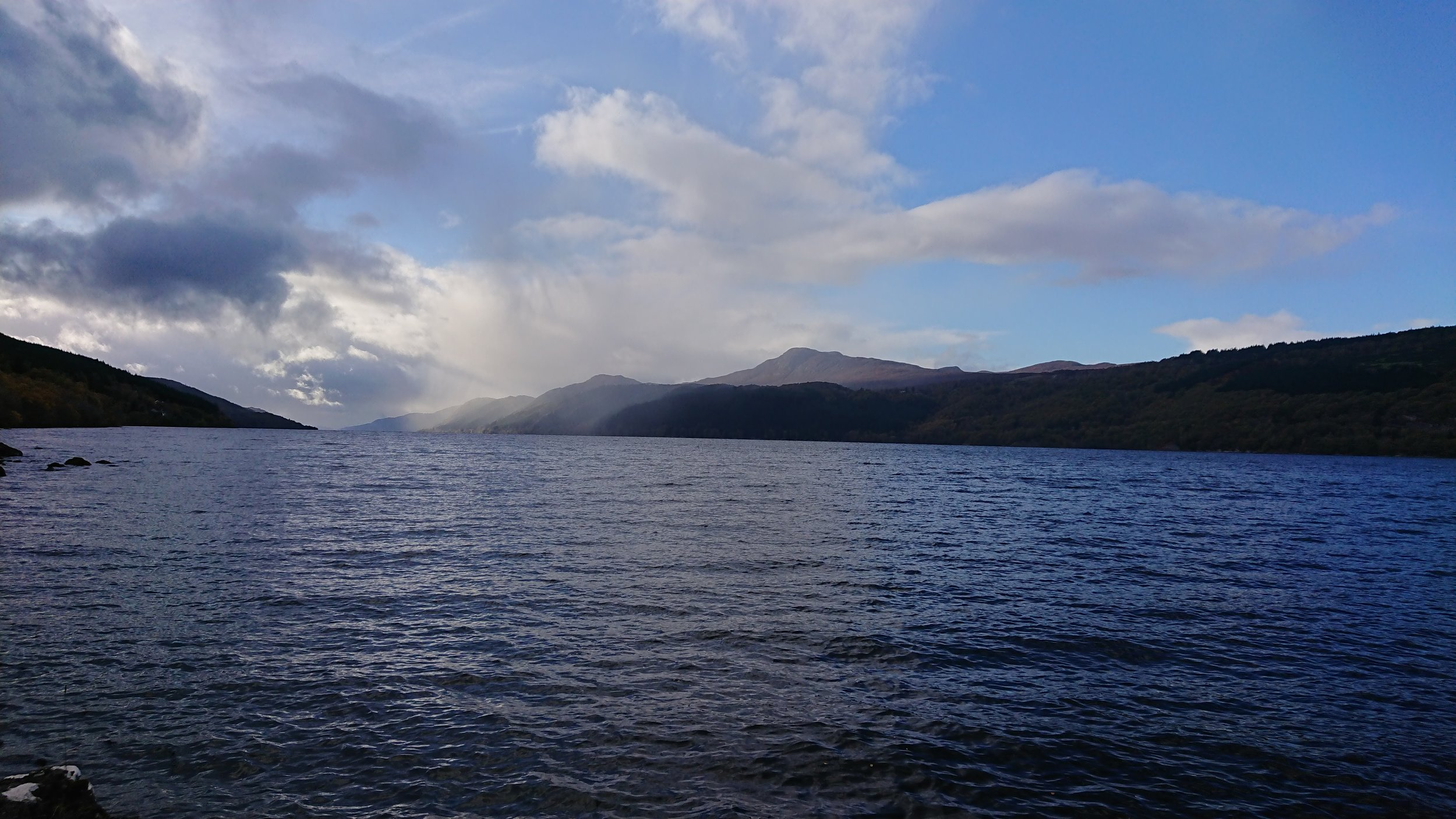 Author's photograph taken from Foyers on the south bank of Loch Ness looking north west.