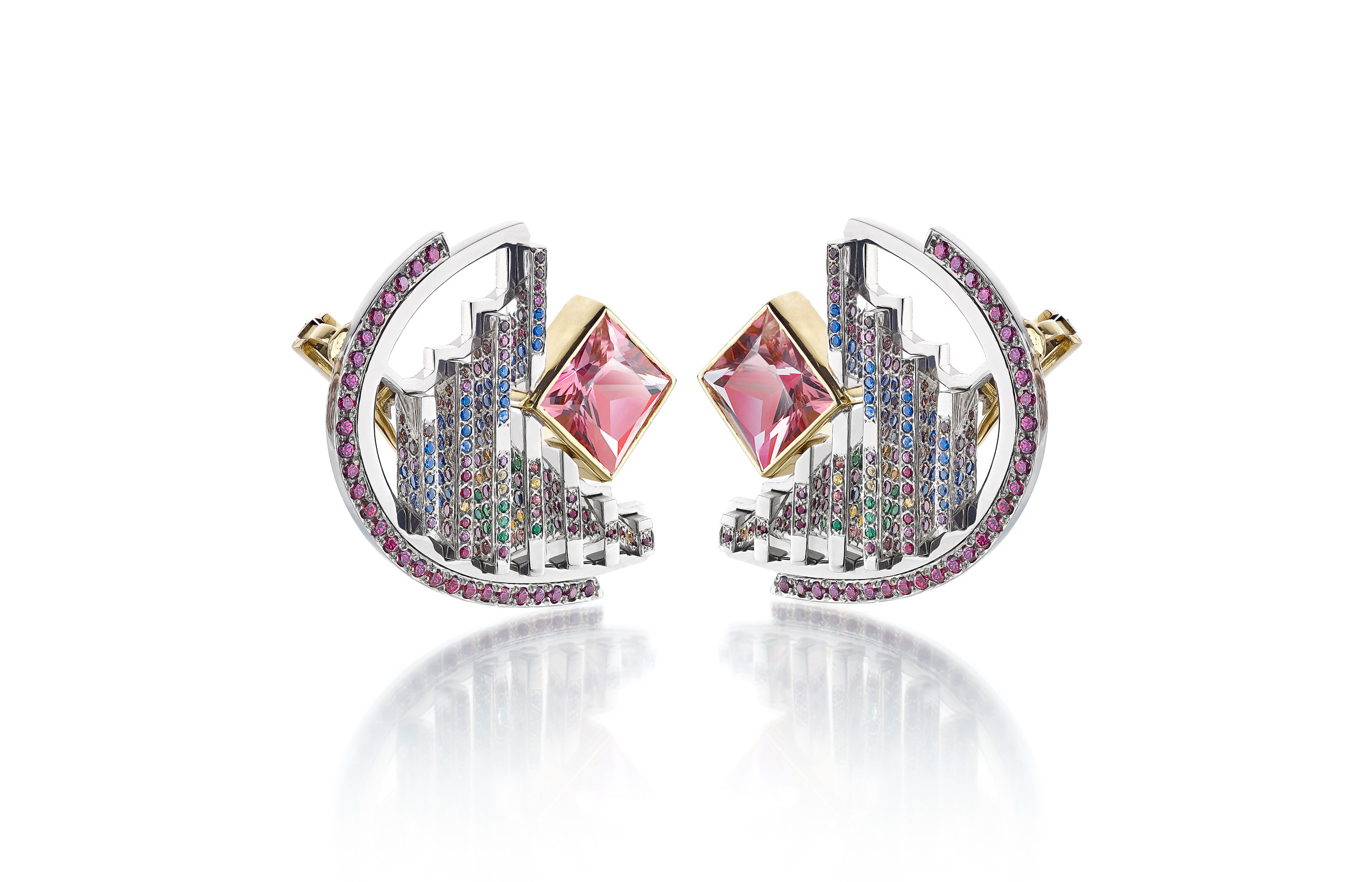 VICKY LEW LONDON thalurania & colombia earrings image courtesy of designer