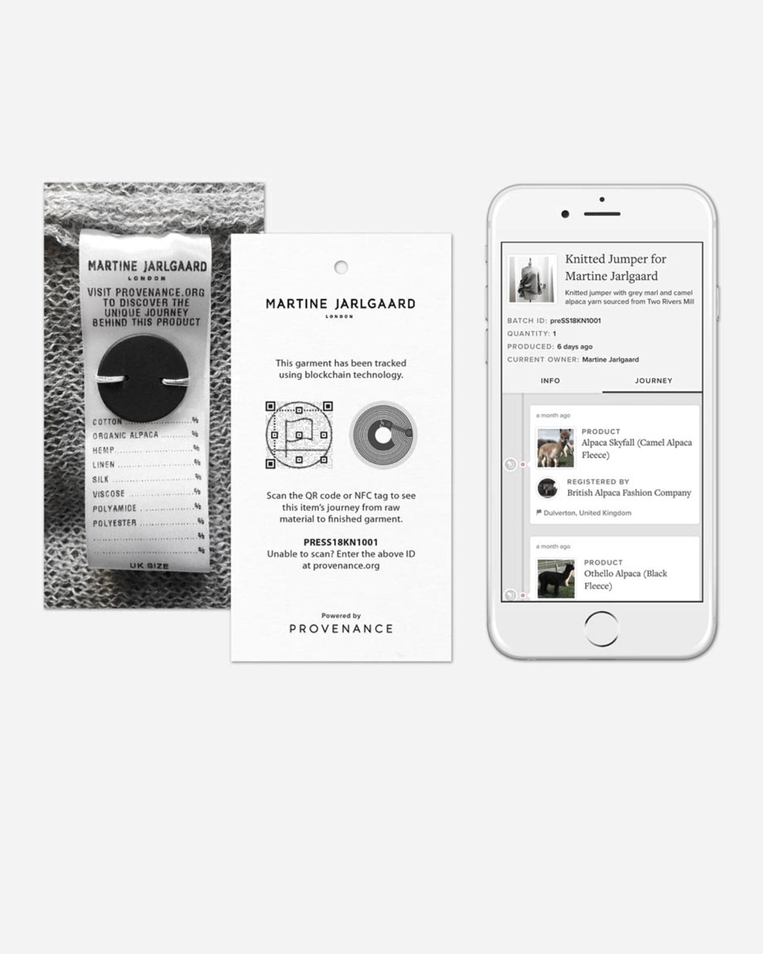 martine jarlgaard blockchain for fashion