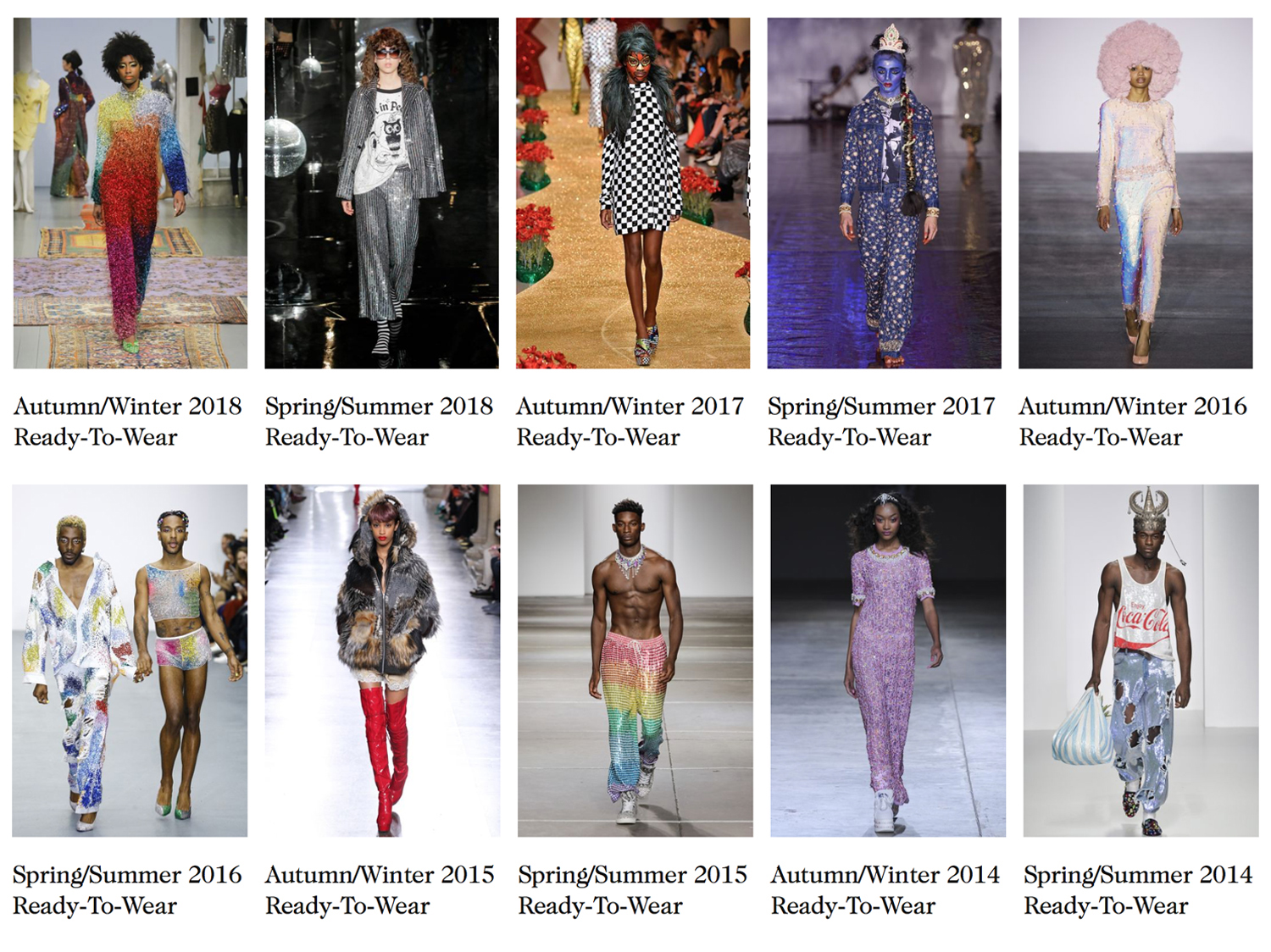 To date Ashish has shown at London Fashion Week 27 times, image via vogue.co.uk